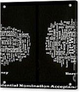 Acceptance Speeches Acrylic Print by David Bearden