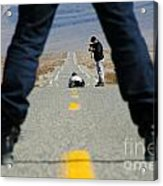 Accident Scene Photographer Acrylic Print