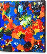 Acrylic Abstract Upon Wood Acrylic Print