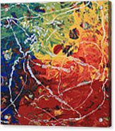 Acrylic  Poured  And  Dripped  2001 Acrylic Print