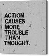 Action Acrylic Print