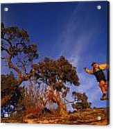 Adam Lederer Trail-runs Near Dolores Acrylic Print