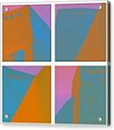 Adobe Walls Four-up Acrylic Print by Carol Leigh