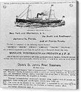 Advertisement: Steamship Acrylic Print