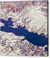 Aerial Of Abiquiu Reservoir Covered Acrylic Print