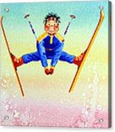Aerial Skier 17 Acrylic Print by Hanne Lore Koehler