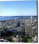 Aerial View - Sydney Harbour Acrylic Print by Kaye Menner