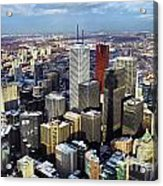 Aerial View From Cn Tower Toronto Ontario Canada Acrylic Print