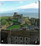 Aerial View Of Dover Castle Acrylic Print