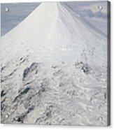 Aerial View Of Glaciated Shishaldin Acrylic Print by Richard Roscoe