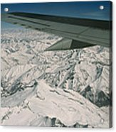 Aerial View Of Himalaya From Plane En Acrylic Print