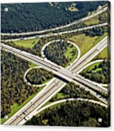 Aerial View Of Junction In Bavaria Acrylic Print by Daniel Reiter