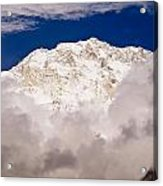 Aerial View Of Mountains, Annapurna Acrylic Print