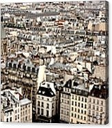 Aerial View Of Paris Acrylic Print by Landscape and urban landscape
