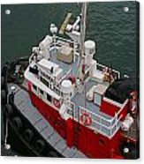 Aerial View Of Red Tug  Acrylic Print