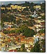 Aerial View Of Santiago De Cuba, Cuba Acrylic Print