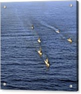 Aerial View Of Ships In Formation Acrylic Print