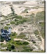 Aerial View Of Stage Harbor Light In Chatham On Cape Cod Massac Acrylic Print