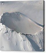 Aerial View Of Summit Of Shishaldin Acrylic Print by Richard Roscoe
