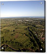 Aerial View Of The Coast Town Of Nadi Acrylic Print