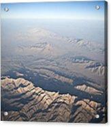 Aerial View Of The Mountainous Acrylic Print