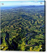 Aerial View Of The Nadi River Winding Acrylic Print