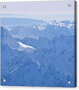 Aerial View Of The Snow-covered Julian Acrylic Print