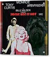 Affenpinscher Some Like It Hot Movie Poster Acrylic Print