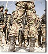 Afghan Air Force Members Get Briefed Acrylic Print