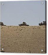 Afghan Army Convoy Drives Acrylic Print