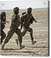 Afghan National Army Soldiers Run Acrylic Print