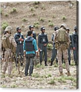 Afghan Police Students Listen To U.s Acrylic Print