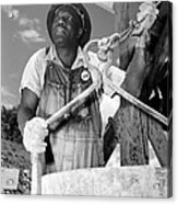 African American Construction Worker Acrylic Print by Everett