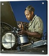 African American Soldier, A Truck Acrylic Print