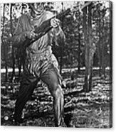 African-american Soldier Charging Acrylic Print by Everett
