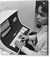 African-american Woman Computer Acrylic Print