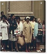 African Americans Mostly Women Waiting Acrylic Print