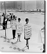 African Americans Protesting Black Acrylic Print by Everett
