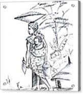 African Rural Woman Acrylic Print