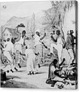 Afro-caribbean Slaves Dancing Acrylic Print by Everett