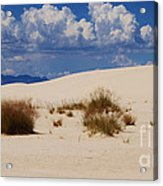 Afternoon At White Sands National Monument Acrylic Print