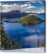 Afternoon Clearing At Crater Lake Acrylic Print