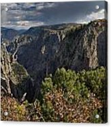 Afternoon Clouds Over Black Canyon Of The Gunnison Acrylic Print