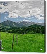 Afternoon Clouds Over The Crazy's Acrylic Print