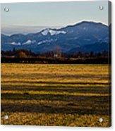 Afternoon Shadows Across A Rogue Valley Farm Acrylic Print