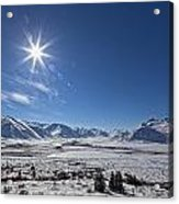 Afternoon Sun Along The Dempster Acrylic Print
