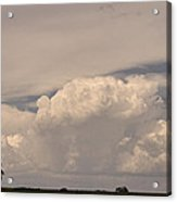 Afternoon Thunderstorm Building Boulder County Co Plains  Acrylic Print