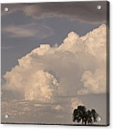Afternoon Thunderstorm Building East Boulder County Co Plains Acrylic Print