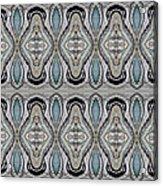 Agate-38e Border Tiled Acrylic Print