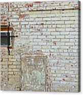 Aged Brick Wall With Character Acrylic Print